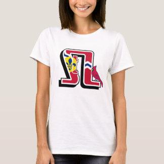 The 2014 STL Design with City Flag & Cardinal Bird T-Shirt