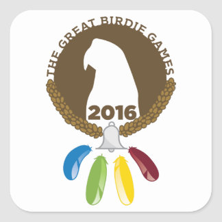 The 2016 Great Birdie Games! Square Sticker