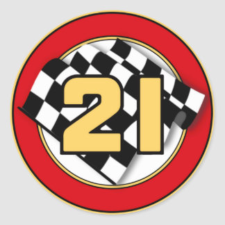 The 21 Car Classic Round Sticker