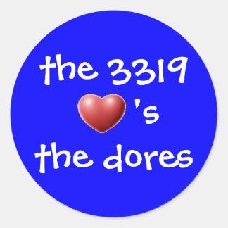 the 3319 classic round sticker