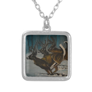 The 3 Deers Silver Plated Necklace