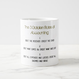 """The 3 Golden Rules of Accounting"" Large Coffee Mug"