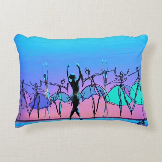 """The 3 Graces"" Ballet Themed Pillow"