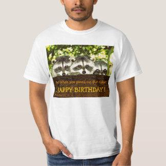 The 3 Raccoons' Birthday Wish T-Shirt
