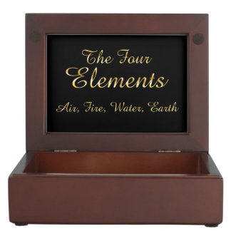 The 4 Elements-Air, Fire, Water, Earth Box Keepsake Box