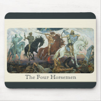The 4 Horsemen of the Apocalypse Mouse Pad
