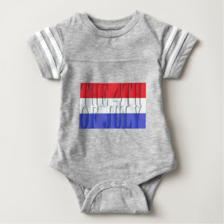 THE 4TH JULY BABY BODYSUIT