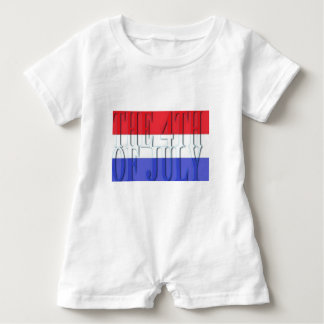 THE 4TH JULY BABY ROMPER
