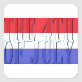 THE 4TH JULY SQUARE STICKER