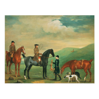 The 4th Lord Craven coursing at Ashdown Park Postcard