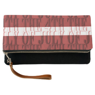 THE 4TH OF jULY Black Fold-Over Clutch