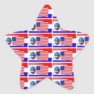 THE 4TH OF JULY  star sticker