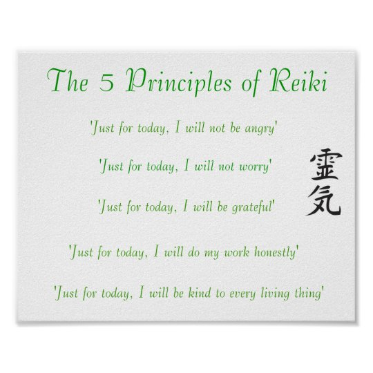 5 Principles Of Art : The principles of reiki poster zazzle