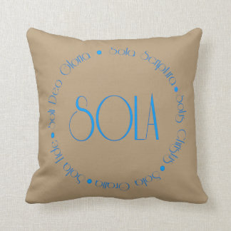 The 5 Solas of the Refomation Throw Pillow