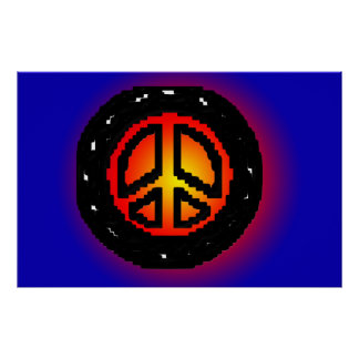 The 70's Peace sign Print