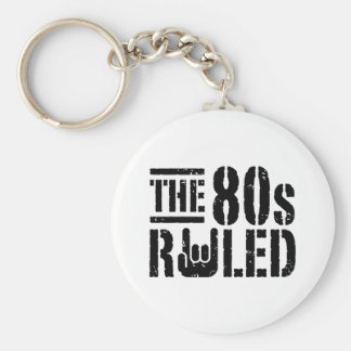 The 80s Ruled Basic Round Button Keychain