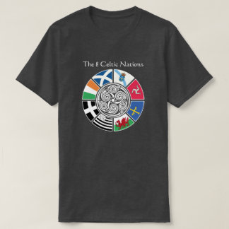 The 8 Ancient Celtic Nations Flag Design T-Shirt
