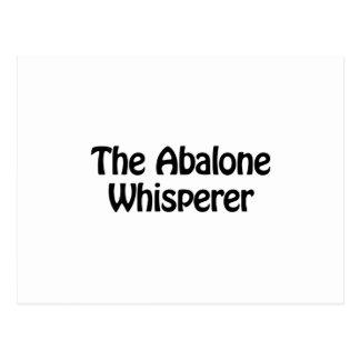 The abalone whisperer postcard