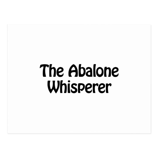 The abalone whisperer postcard