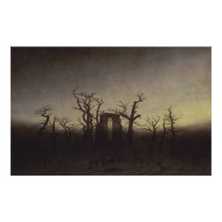 The Abbey in the Oakwood - Caspar David Friedrich Poster