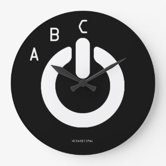 THE ABC's of HEXADECIMALS Large Clock