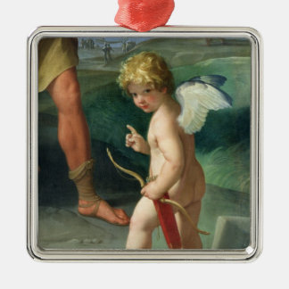 The Abduction of Helen, 1631 Silver-Colored Square Ornament
