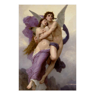 The Abduction of Psyche by Bouguereau Poster