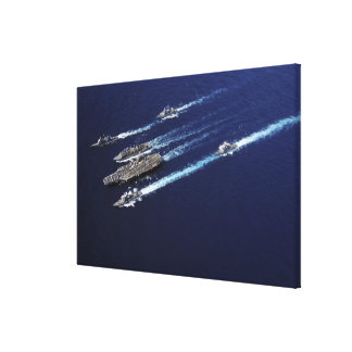 The Abraham Lincoln Carrier Strike Group ships Canvas Print