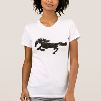 the abstract horse painting shirts