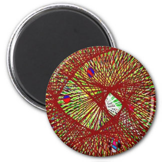 The Abstract Nets 2 Inch Round Magnet