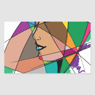 The Abstract Woman by Stanley Mathis Sticker