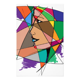 The Abstract Woman Stationery