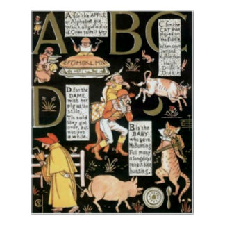 The Absurd ABC Vintage Childrens Print