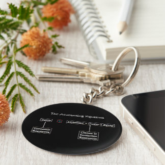 """""""The Accounting Equation"""" Basic Round Button Keychain"""