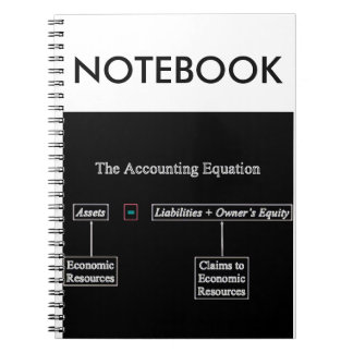 """""""The Accounting Equation"""" Spiral Notebook"""