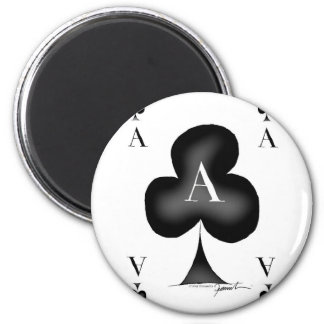 The Ace of Clubs by Tony Fernandes 2 Inch Round Magnet