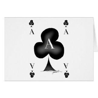 The Ace of Clubs by Tony Fernandes Card