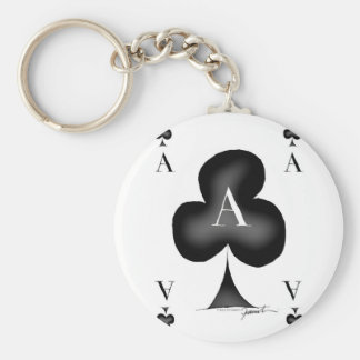 The Ace of Clubs by Tony Fernandes Keychain