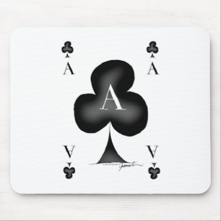 The Ace of Clubs by Tony Fernandes Mouse Pad