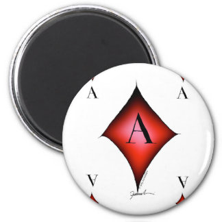 The Ace of Diamonds by Tony Fernandes 2 Inch Round Magnet
