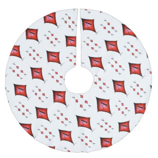 The Ace of Diamonds by Tony Fernandes Brushed Polyester Tree Skirt