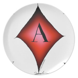 The Ace of Diamonds by Tony Fernandes Plate