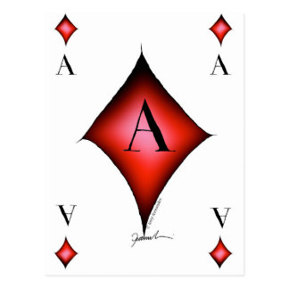 The Ace of Diamonds by Tony Fernandes Postcard