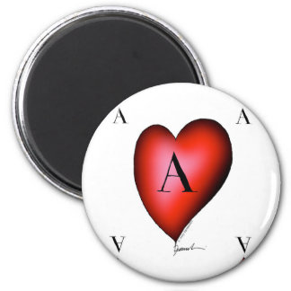 The Ace of Hearts by Tony Fernandes 2 Inch Round Magnet