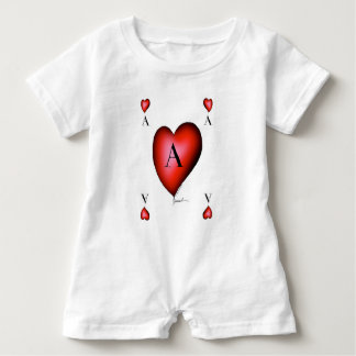 The Ace of Hearts by Tony Fernandes Baby Romper