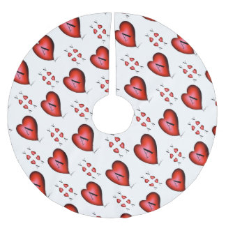 The Ace of Hearts by Tony Fernandes Brushed Polyester Tree Skirt