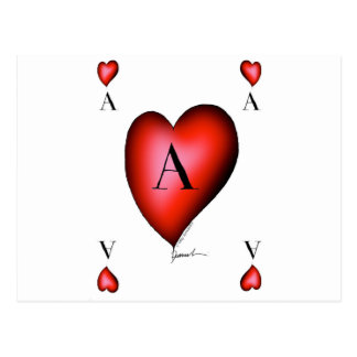 The Ace of Hearts by Tony Fernandes Postcard