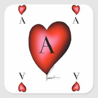 The Ace of Hearts by Tony Fernandes Square Sticker