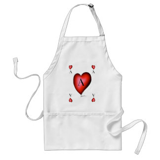 The Ace of Hearts by Tony Fernandes Standard Apron
