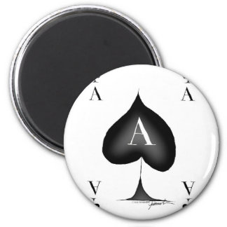 The Ace of Spades by Tony Fernandes 2 Inch Round Magnet